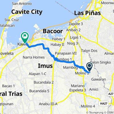 Santan Street, Bacoor City to Manila-Cavite Road, Kawit