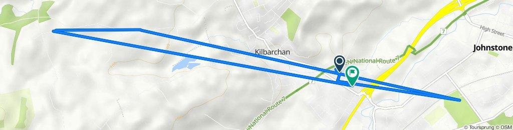 kilbarchan back roads to bridge of weir