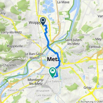 De 10bis Rue du Fort Gambetta, Woippy à 5 Rue du Gardeur Lebrun, Metz