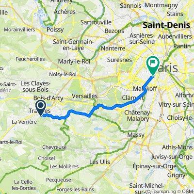 De 2–4 Avenue des Frères Lumière, Trappes à 32 Place Raoul Dautry, Paris