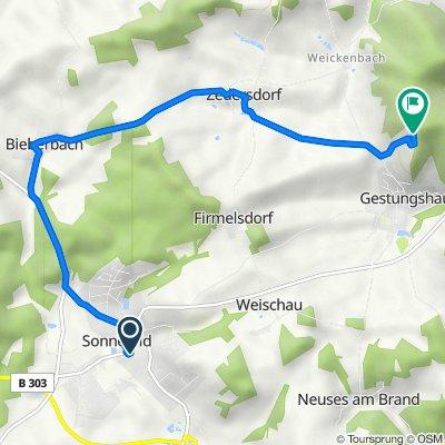 Route von Martin-Luther-Straße 7, Sonnefeld