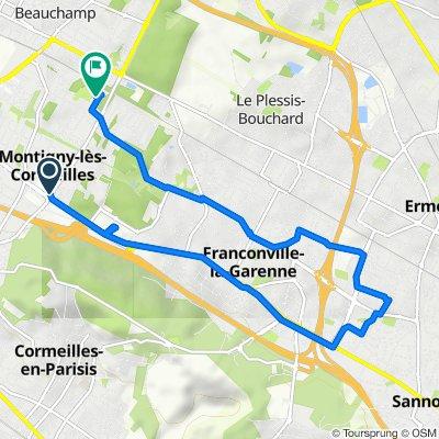 Boulevard Victor Bordier 38b, Montigny-lès-Cormeilles to Rue de l'Espérance 13, Montigny-lès-Cormeilles