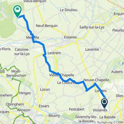 Itinéraire vers 2–400 Rue du Faubourg, Vieux-Berquin