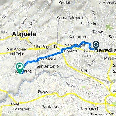 De Calle 24, Heredia a Vía 122, San José