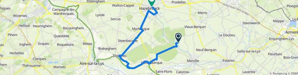 De 962 Rue de Cappel Boom, Vieux-Berquin à 1ter Rue de Vieux-Berquin, Hazebrouck