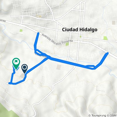 Ruta desde Avenida de Los Dolores, Ciudad Hidalgo