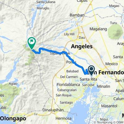 Route from Santa Barbara Road, Bacolor
