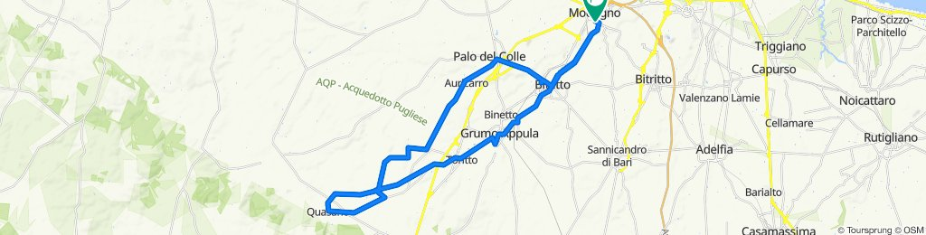 Da Via Piave 66/D, Modugno a Via Bitritto 2/B, Modugno