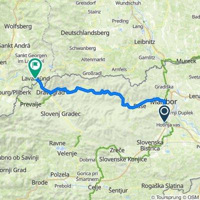 VI-LJ 5a: Slivnica - Lavamünd Torwirt, 82,6km, 1010hm