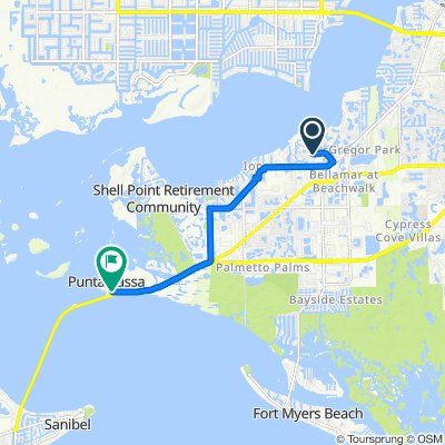 14947–14957 Westport Dr, Fort Myers to 17501 Harbour Point Dr, Fort Myers