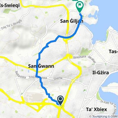 Triq l-Imħallef Paolo Debono, Msida to Triq Francis Zammit, Saint Julian