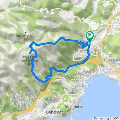 Mallorca a peu: puig Gros de Bendinat des de Gènova