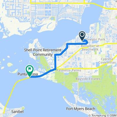 14696 Olde Millpond Ct, Fort Myers to 18700 McGregor Blvd, Fort Myers