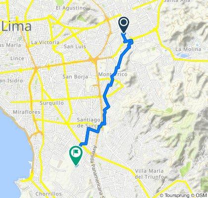 De Los Lúcumos 180, Lima a Jirón Comandante FAP. Guillermo Brenner 363, Distrito de Lima