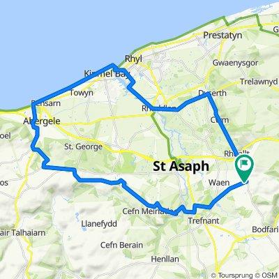 2 Summerhill Court, St Asaph to 3 Summerhill Court, St Asaph