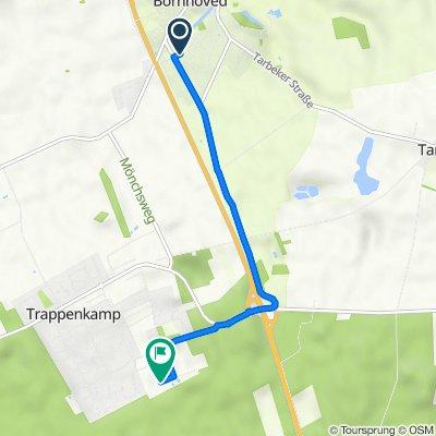 Osloweg 16, Bornhöved nach Neue Straße 9, Trappenkamp