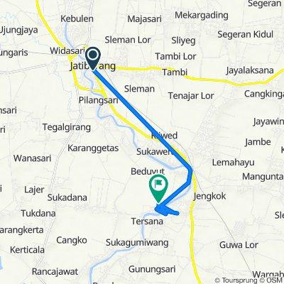 Jalan Letnan Joni No.180, Kecamatan Jatibarang to Jalan Raya Bangodua