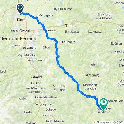 De 36 Route de Châtel-Guyon, Saint-Bonnet-près-Riom à 3 Boulevard Félix Allard, Craponne-sur-Arzon