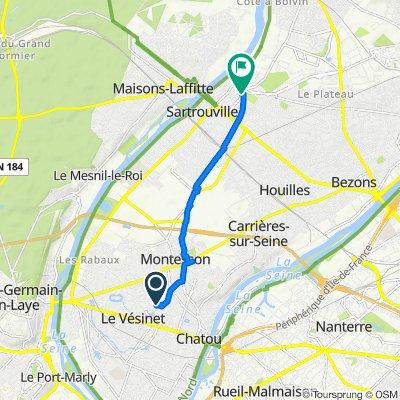 De 129D Rue des Landes, Chatou à 4B–18 Rue du Tour, Sartrouville