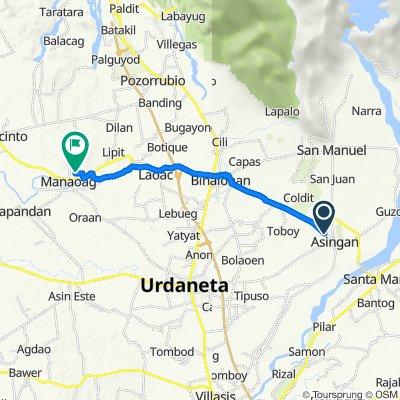 Binalonan - Asingan Road to Limos Street, Manaoag