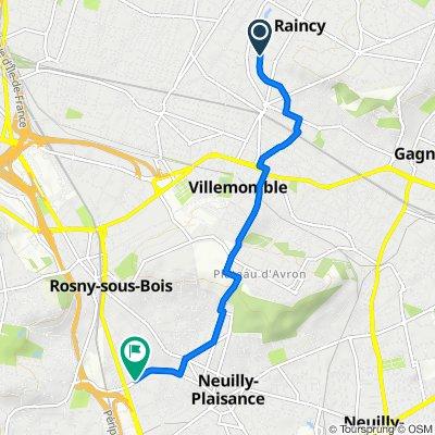 De 32–44 Allée du Jardin Anglais, Le Raincy à 105 Rue Lavoisier, Rosny-sous-Bois