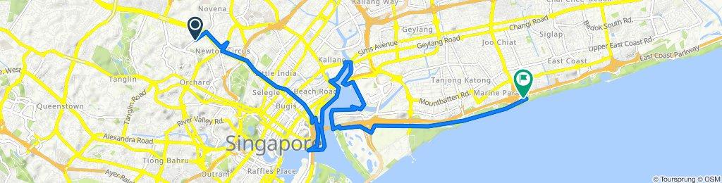 Balmoral Road 16, Singapore to East Coast Parkway 1000, Singapore