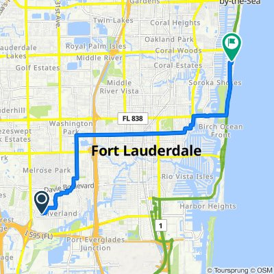 Southwest 22nd Street 3625, Fort Lauderdale to Center Avenue 2725, Fort Lauderdale