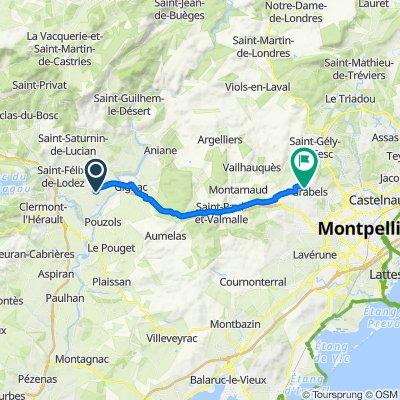 19 Rue Ernest Gaubert, St-André-de-Sangonis to 48–152 Route de Bel Air, Grabels