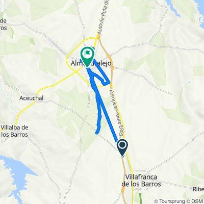 De Autovía Ruta de la Plata, Villafranca de los Barros a Avenida de la Paz 28, Almendralejo