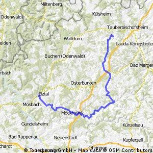 Dallau - Schöntal - Gissigheim