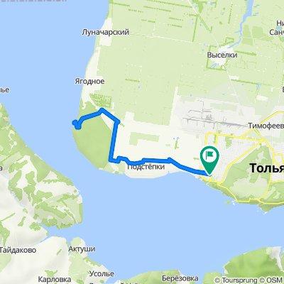 От Приморский бульвар, Тольятти до Приморский бульвар 37, Тольятти