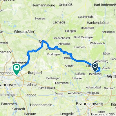Saale 13a: Isenbüttel - Isernhagen Jöran, 87,8km, 120hm
