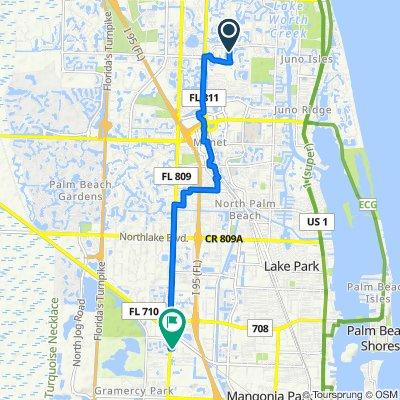 332 Charroux Dr, Palm Beach Gardens to 6658 N Military Trail, Riviera Beach