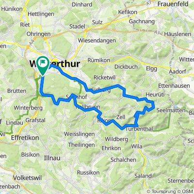 Eichliackerstrasse 64, Winterthur nach Eichliackerstrasse 56, Winterthur