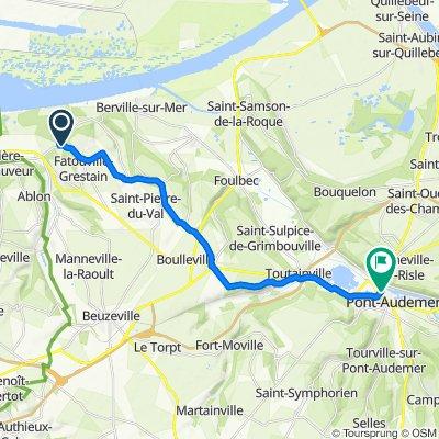 De Chemin du Val Anglais 119, Fatouville-Grestain à Rue Thiers 11, Pont-Audemer