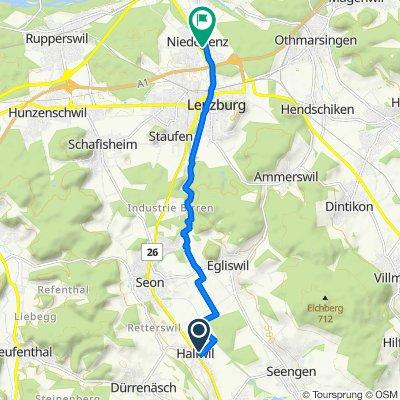 Steinmattweg 416, Hallwil nach Saxerweg 5, Niederlenz