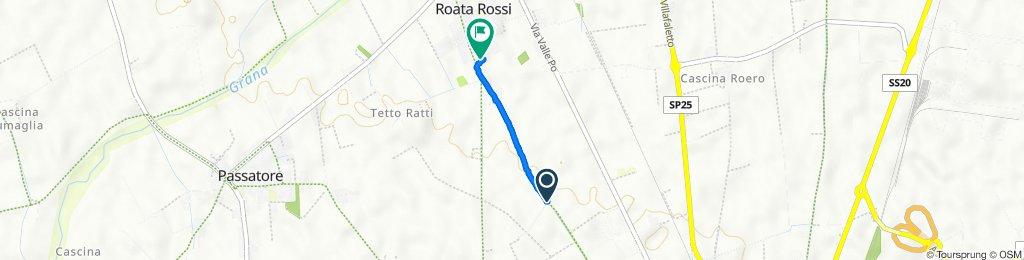 Da Via Antica di Busca 104-116, Cuneo a Via Antica di Busca 122a, Roata Rossi