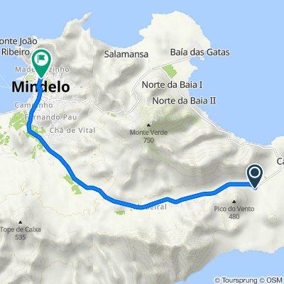 De Estrada Mindelo-Calhau a Avenue Capitao T Duarte, Mindelo