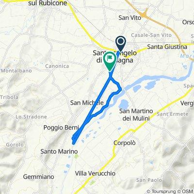 Da Via Francesca Morvillo 2, Santarcangelo di Romagna a Via Celletta dell'Olio 363, Santarcangelo di Romagna