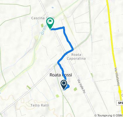 Da Via Antica di Busca 122a, Roata Rossi a Strada Provinciale 589, Cuneo