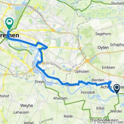 Saale 15a: Achim - Bremen Hbf, 27,6km, 30hm