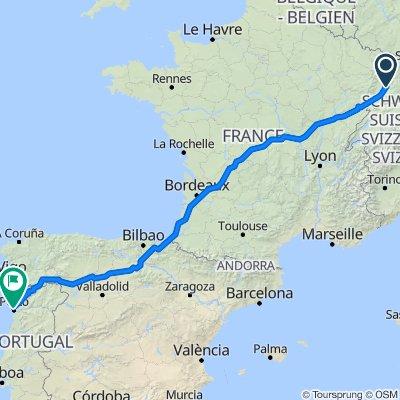 Von March nach Porto