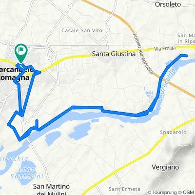 Da Via Don Giovanni Verità 2, Santarcangelo di Romagna a Via Francesca Morvillo 2, Santarcangelo di Romagna