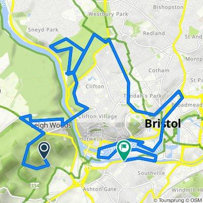 Route to Coronation Court, Coronation Road, Bristol