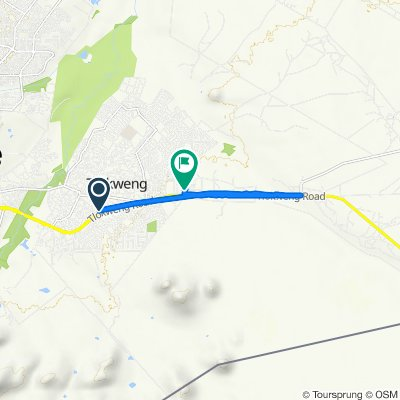Route from Tlokweng Road, Tlokweng