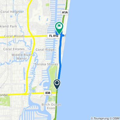 A1A/Birch Park, Fort Lauderdale to Northeast 32nd Street 3324, Fort Lauderdale