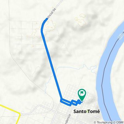 Ruta a Bertodano 742, Santo Tome