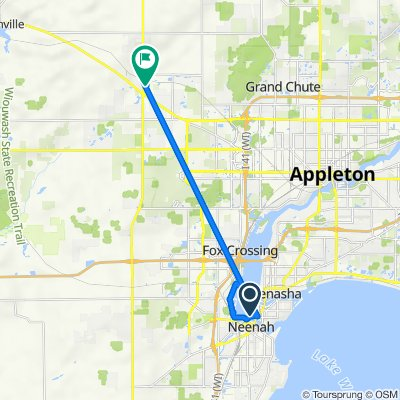 402 W North Water St, Neenah to W6869 Goldfinch Ct, Appleton