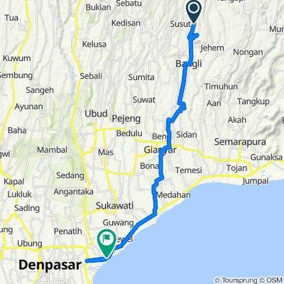 Route to Jalan Profesor Doktor Ida Bagus Mantra, Denpasar