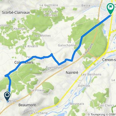 De 2 Rue Garenne, Beaumont à 28 Rue de Colombiers, Châtellerault